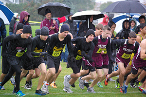 Boys' cross-country team starts the Greater Lansing meet