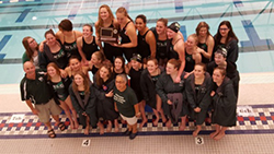 Lansing Christian School - Williamston Swim Dive team League Champions