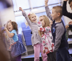 Lansing Christian School Preschoolers expressing their joy