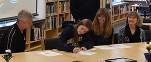 Lansing Christian School Senior Rachelle Trafford signs to play socces at Spring Arbor University