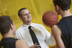 Lansing Christian School Athletic Director Zach Van Duinen during his first summer sports camp.