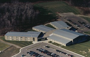 Lansing Christian School current building as seen from the air