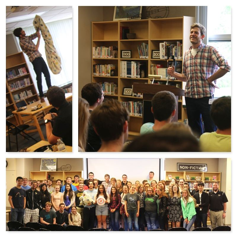 A big thanks to filmmaker Evan Koons @koonse for equipping our seniors to transform the world by teaching them how to play frisbee and how to fold a fitted sheet (as well as several slightly more important things). :) #LcsEquips #LCSgram