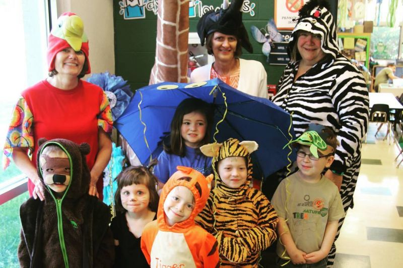 Tuesday was Zoophonics Dress-up Day for Mrs. Tilden and her crazy crew. #UmbrellaJellyFishForTheWin! #LCSgram