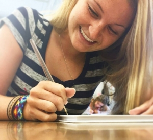Drawing up plans for a successful school year. #LcsEquips #LCSgram (photo by @kealeigh_usiak)