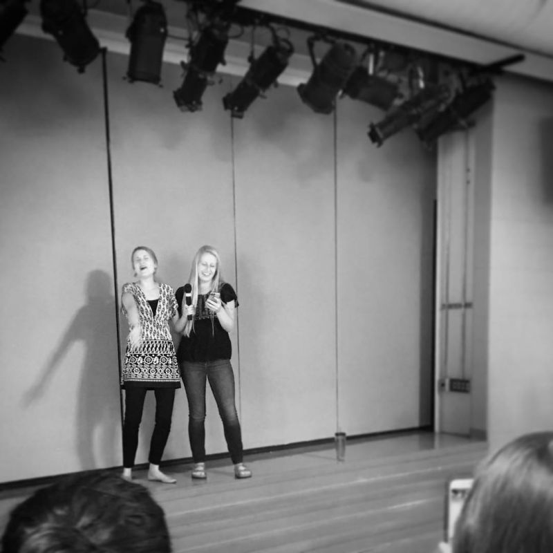 LET IT GO!!! Thanks to Mrs. Lohman and Natalie for your beautiful performance at lunch on Monday! #LcsSings #LcsLife #LCSgram (photo by Emma Myers)
