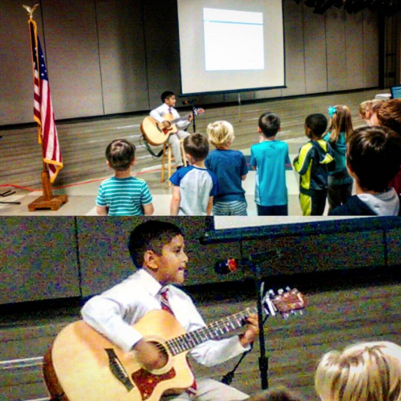 Wow! This morning 2nd grader Stephen led his fellow elementary students in worship. #LcsLeads #LcsGlorifies #LCSgram