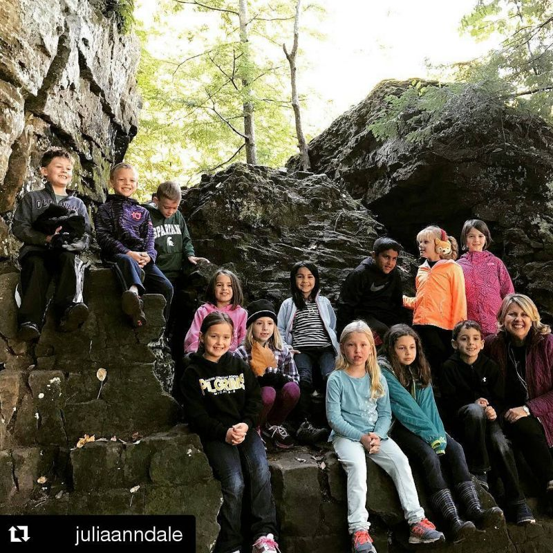 #Repost @juliaanndale ・・・ What a wonderful day at the Ledges! #lcspilgrims