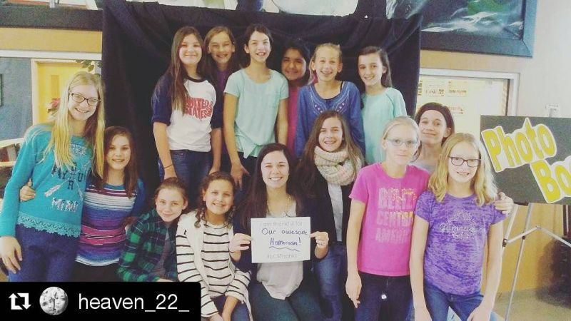 #Repost @heaven_22_ our middle school winner of a Biggby gift card! ・・・ I am thankful for our awesome homeroom! #LCSthanks #6thgradehomeroom