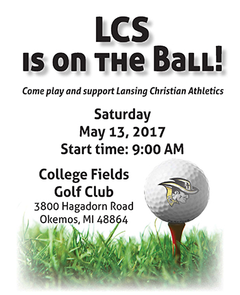 Advertisement for the Lansing Christian School Golf Outing