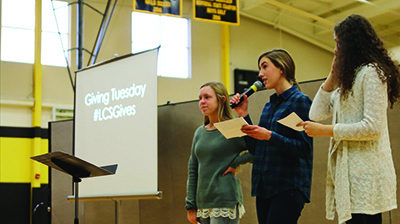 Lansing Christian School National Honor Society Giving Tuesday