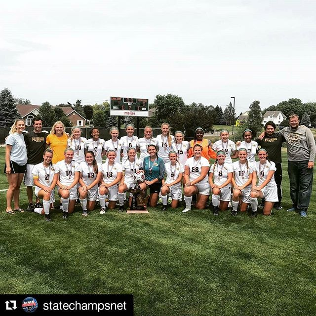 #Repost @statechampsnet ・・・ Lansing Christian @lcspilgrims are for the second year in a row D4 girls soccer state champions!!