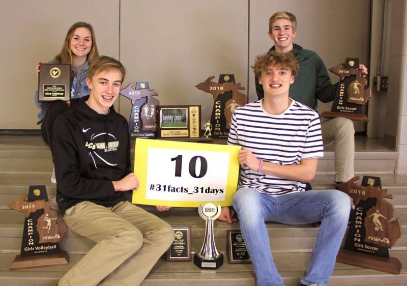 10 athletic titles in one year: LCS won State, Semi-Final, Regional, District, and Conference titles in 2017-18 athletics. #LCS_highschool #31facts_31days #LCScompetes #GoPilgrims  http://www.lansingchristianschool.org/admissions/campus-visits