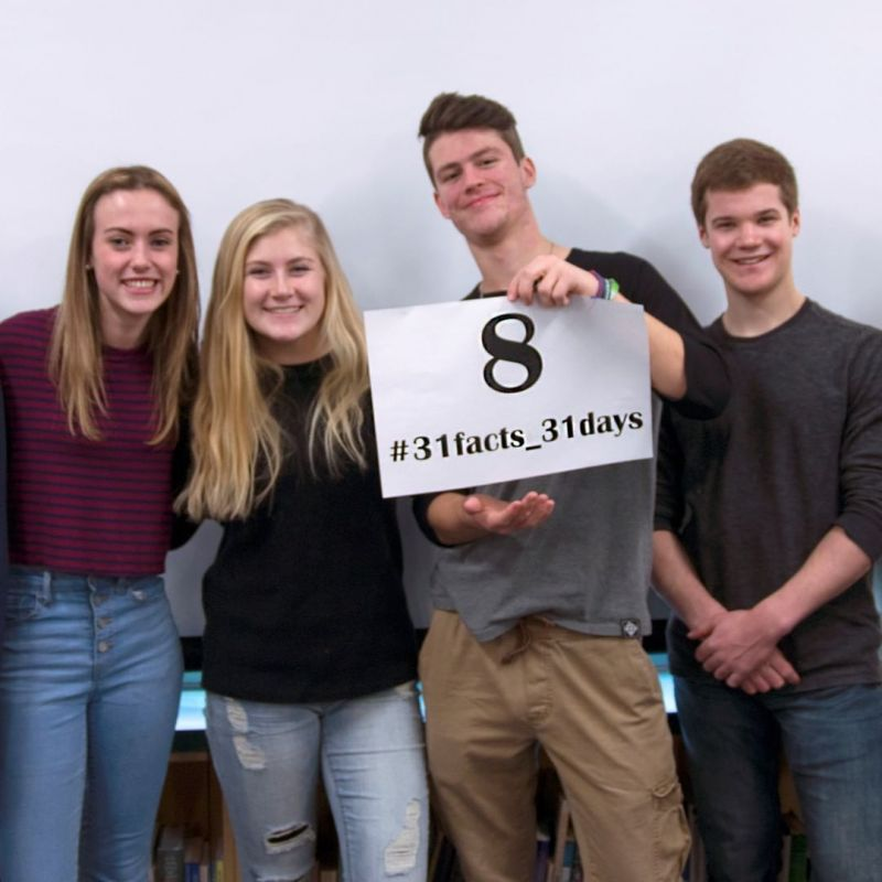 8 semesters of Learning and Faith: A high school career that's spent in a healthy school culture produces higher student achievement now and later in life. #LCS_highschool #31facts_31days #LCSequips  http://www.lansingchristianschool.org/admissions/campus-visits