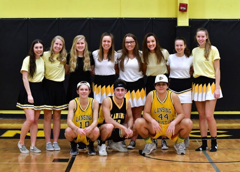 HS students dressed up to cheer on our basketball teams on Friday during Homecoming! #LCS_Homecoming www.lansingchristianschool.org