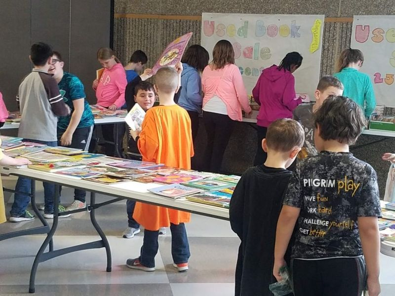 LCS 3rd graders organized a school-wide used book donation drive and book sale for #MarchIsReadingMonth. The proceeds will allow them to purchase supplies to make blankets for hospitalized children. #LCS_serves www.lansingchristianschool.org