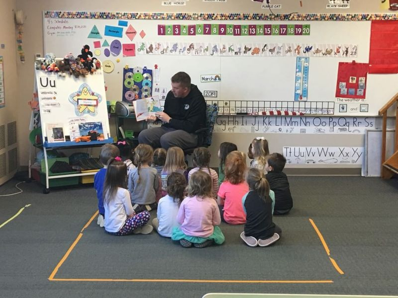 Mr. Mustaine, LCS Varsity Boys Basketball Coach, read to our PreK 3 year old class in celebration of March is Reading Month! LCS has several activities planned this month to encourage students to read everyday! Check out our amazing Early Learners Preschool program at http://www.lansingchristianschool.org/academics/preschool
