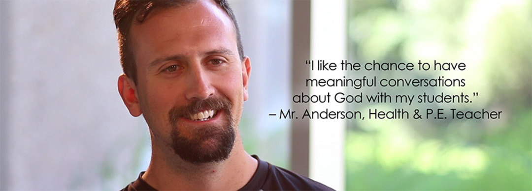 Lansing Christian School teacher Mr. Garrett Anderson