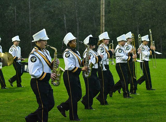 Making history in the rain. Introducing the LCS Marching Band! #LCSgram