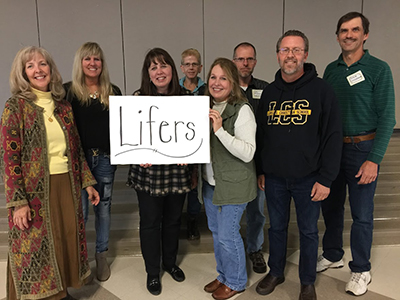 Lifers at Lansing Christian School Reunion of Classes of '77-80