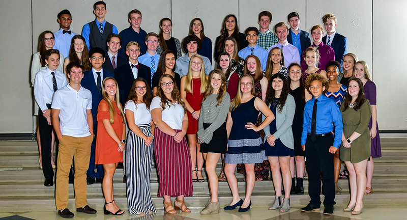 Lansing Christian School 2018-2019 National Honor Society members