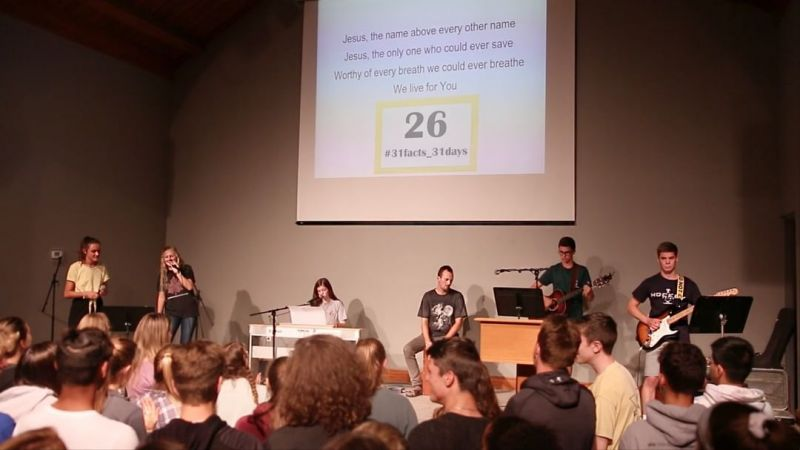 26% of LCS high school students participate in planning, leading worship, and running tech for student-led chapels. #LCS_highschool #31facts_31days #LCS_chapel #LCS_leadership #LCS_retreat