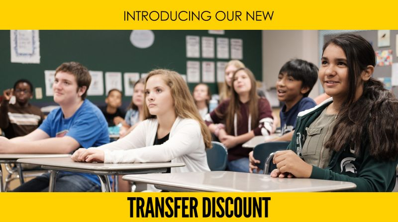 Lansing Christian School Transfer Discount