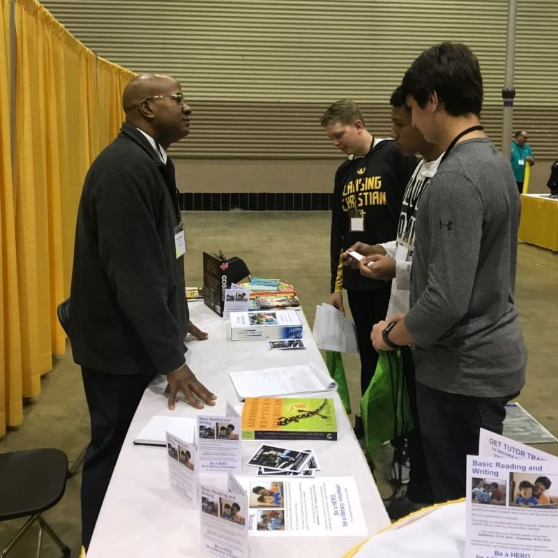 LCS freshmen attended the MiCareer Quest career fair where they were able to interact with numerous employers in interactive, engaging, and fun ways about their various professions. Everything from STEM, health sciences, to natural sciences were represented at the fair. Many schools in the area were there, and students overall enjoyed the experience! #LCS_equips www.lansingchristianschool.org