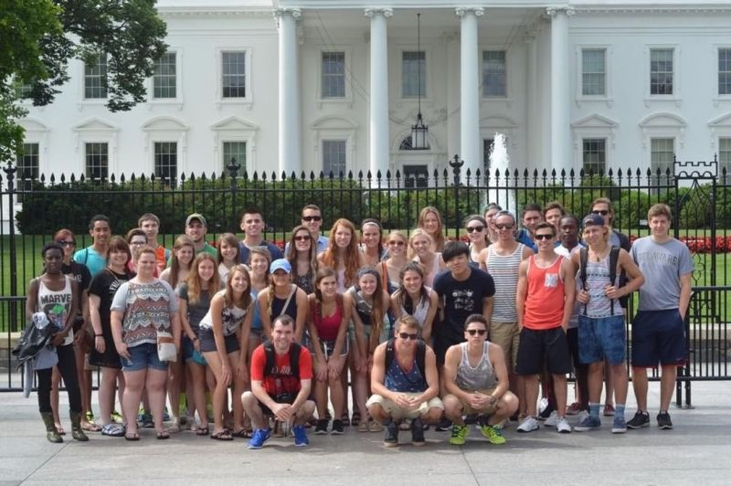 #TBT… Washington D.C. senior trip class photo from four years ago. Many of these students just graduated from college in the last few weeks. The D.C. trip continues… www.lansingchristianschool.org