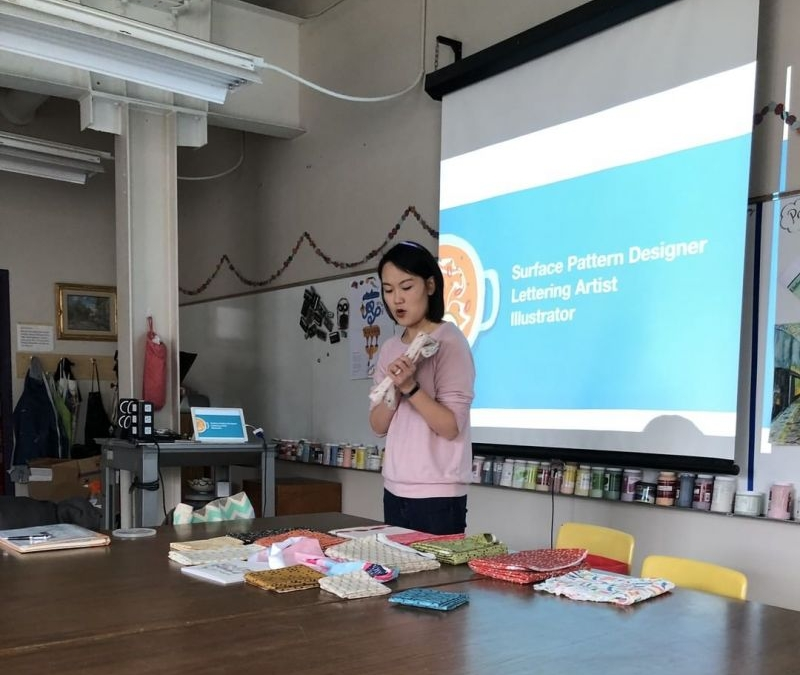 Thank you to Esther Nariyoshi who was a guest speaker in the LCS Creative Entrepreneurship class! Esther spoke about her work as a surface/pattern designer and letterer as well as being a Christian in the design field. www.lansingchristianschool.org