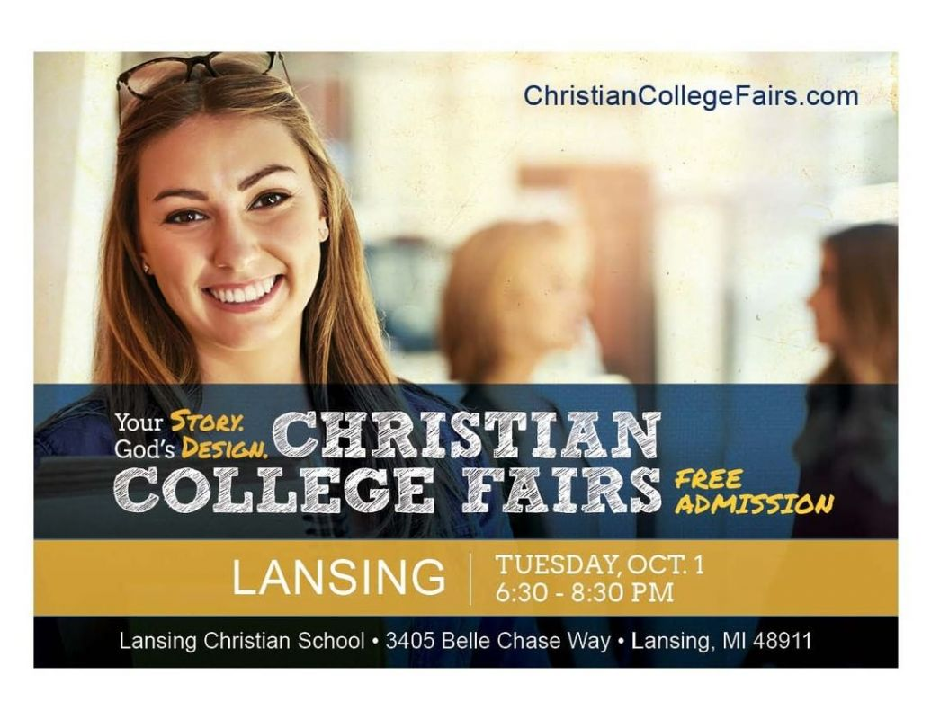 Join us on Tuesday, October 1, from 6:30-8:30pm at LCS. Over 30 Christian colleges from around the country will be in attendance. Financial Aid Seminar begins at 7pm.