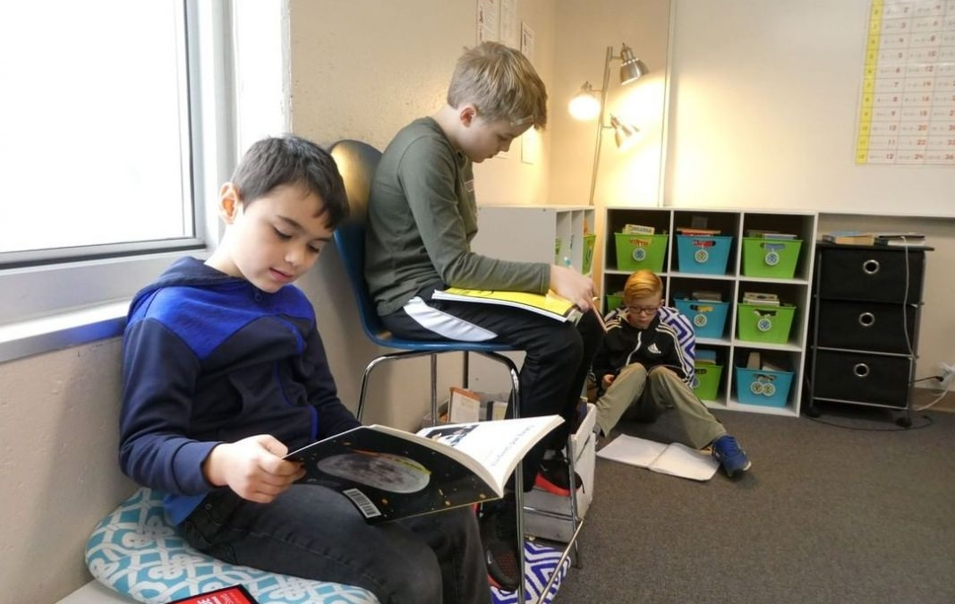 Creating lifelong learners – LCS fourth grade students focus on informational text during independent reading time. Reading informational text at a young age helps students foster needed skills to read text for information later in life. #LCS_HaveItAll www.lansingchristianschool.org