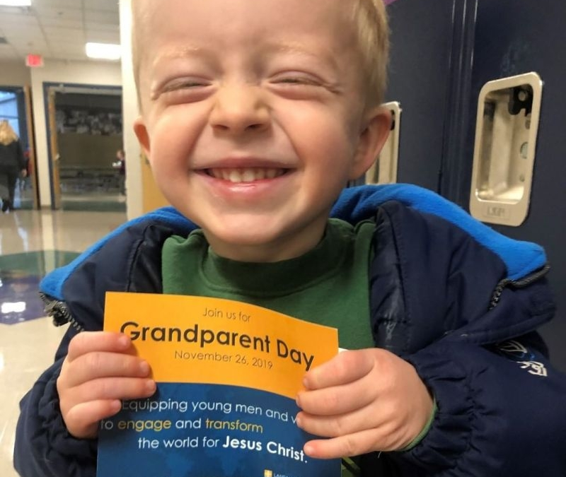 Grandparent Day is coming… LCS invites grandparents and special friends to come and enjoy an afternoon at LCS on November 26 from 12:30-3PM. #lcs_grandparentday www.lansingchristianschool.org
