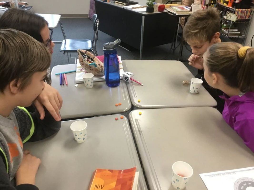 In 7th grade Bible class students have been learning about the festival of Hanukkah. The students learned about the dreidel game and were able to play for a few minutes in class! #LCS_HaveItAll www.lansingchristianschool.org