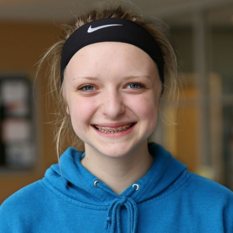 "Mikayla is a Pilgrim. She plays basketball and volleyball for LCS. Her favorite part of school is chapel because ""the way we worship and learn new things about and with God is just so amazing! I have realized that it's okay to be me and I have grown closer with God."" #BeAPilgrim #LCS_StudentStories www.lansingchristianschool.org"