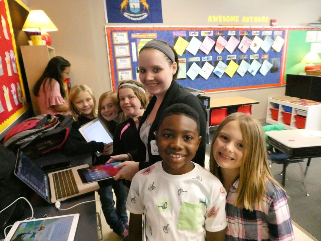 MSU computer engineering students wrote an app for Learning A-Z and solicit feedback from our 3rd grade students! #LCS_HaveItAll www.lansingchristianschool.org