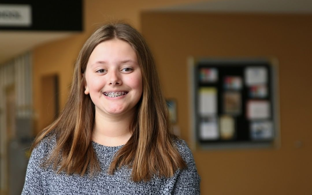 """Rachel is a Pilgrim. She's proud to have earned a high GPA while playing LCS basketball, practicing the viola, and taking part in the middle school play. The best part of her day is when she """"walks into home room and instantly feels welcomed."""" Someday she'd like to design props for movie sets or become a mechanical engineer. #BeAPilgrim #LCS_StudentStories www.lansingchristianschool.org"""