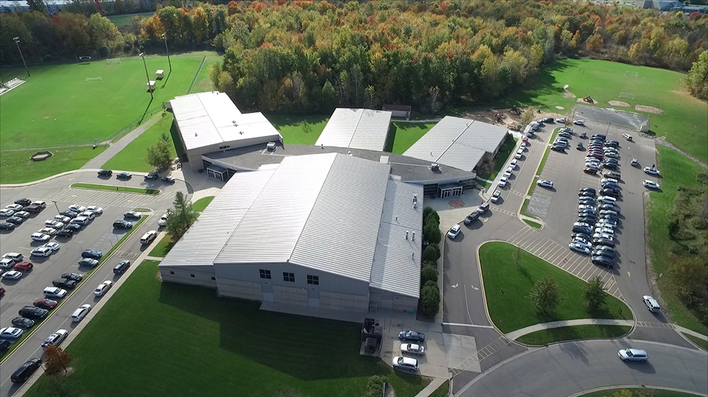 Drone photo of Lansing Christian School