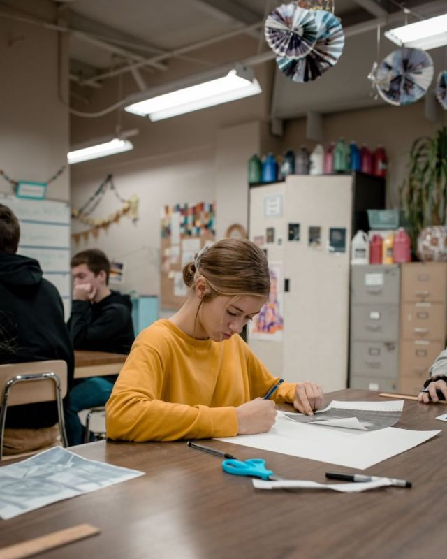 My Life God's Story… As image bearers of a creative God, it is important for students to be able to create art that honors God and enriches our world. Here a high school junior designs a project for her drawing class. www.lansingchristianschool.org/academics/high-school @maliyawaynerphotography