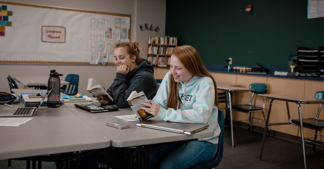 My Life God's Story… LCS students are equipped to use critical thinking and collaborate effectively. Here seniors discuss their current reading selection in AP English Literature and Composition. www.lansingchristianschool.org/academics/high-school @maliyawaynerphotography