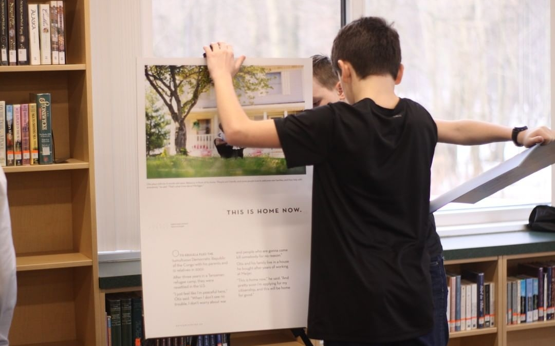 6th grade students have been busy setting up the Refuge Lansing Exhibit! Join us on February 29 from 2:30-4pm to view the exhibit and hear a 30 minute presentation at 3pm about the Refugee Development Center. www.lansingchristianschool.org/academics/middle-school