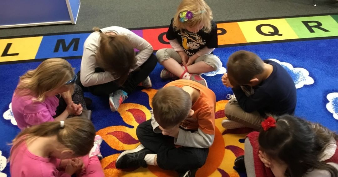 Every day preschool students engage with caring teachers as the class prays together for friends and family, learn how and why we pray, and discuss how God always hears our prayers. Preschool classes are filling up quickly. Apply now at www.lansingchristianschool.org/admissions/applying-to-lcs.